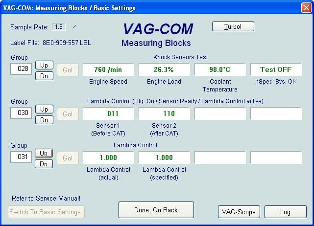 VAG Блог (Audi, Volkswagen, Skoda, Seat, Porsche): Диагностика мотора ALT 2.0 - регулирование по детонации(020-030) Audi A4 (8E) рис. 3