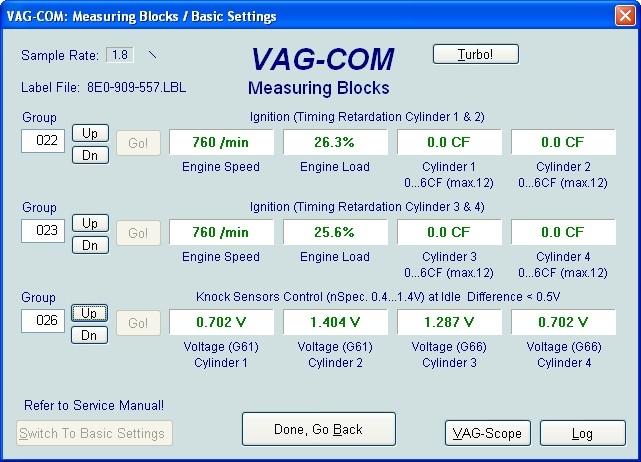 VAG Блог (Audi, Volkswagen, Skoda, Seat, Porsche): Диагностика мотора ALT 2.0 - регулирование по детонации(020-030) Audi A4 (8E) рис. 2