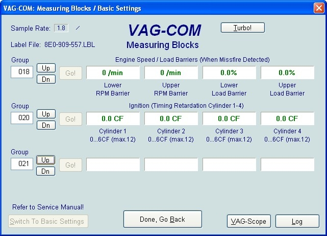 VAG Блог (Audi, Volkswagen, Skoda, Seat, Porsche): Диагностика мотора ALT 2.0 - регулирование по детонации(020-030) Audi A4 (8E) рис. 1