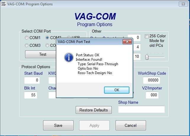 Адаптер VAG-Com KKL 409.1 на чипе CH340T. Драйвера, программа, подключение Audi TT (8N) Coupe рис. 6